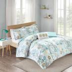 Mi Zone Asha 4-Piece Blue Full/Queen Comforter Set