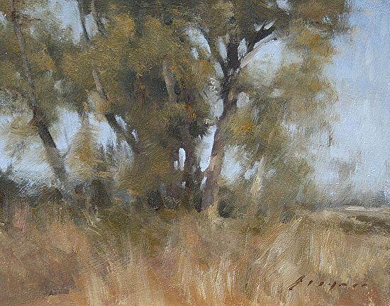 "Grey Lodge Trees by Simon Addyman Oil ~ 8"" x 10"""
