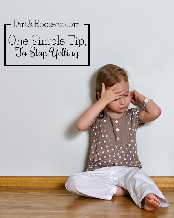 One Simple Tip to Stop Yelling at your kids. As a mom, I love this idea to try in my home.