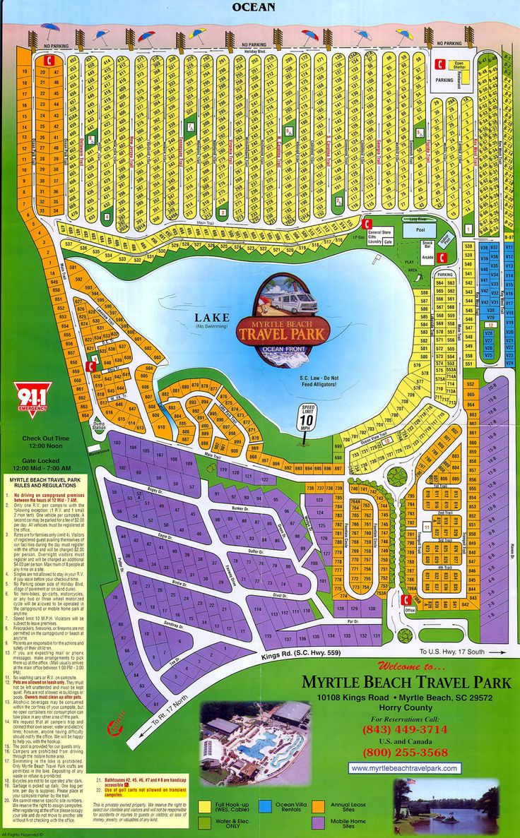 Rental Rates | Myrtle Beach Travel Park (With images ...
