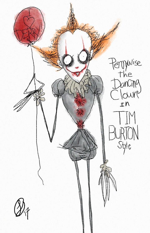 pennywise cartoon drawing tim burton , Google Search in 2019