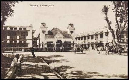 Sudut barat-daya alun-alun Malang