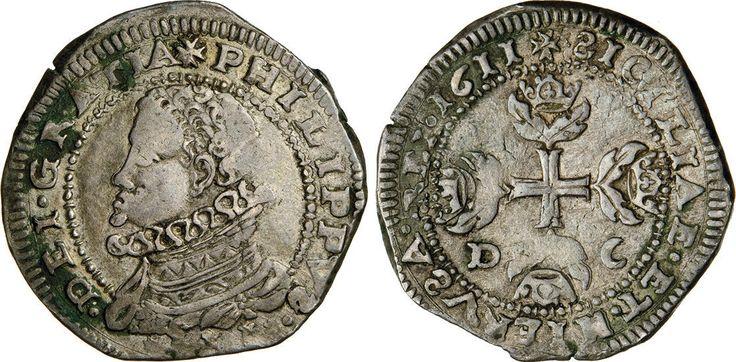 NumisBids: Numismatica Varesi s.a.s. Auction 65, Lot 424 : MESSINA - FILIPPO III (1598-1621) Mezzo Scudo da 5 Tarì 1611,...