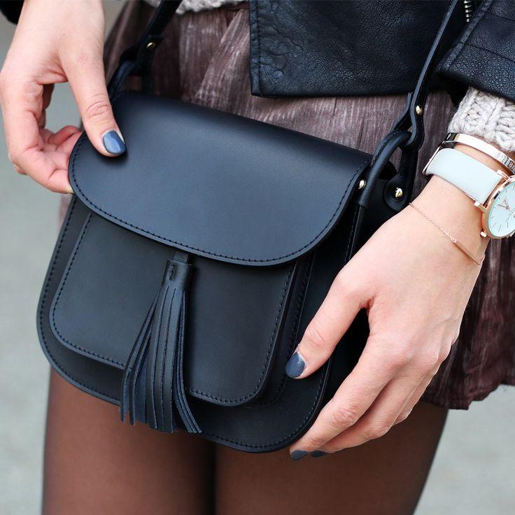 zwarte tas flos