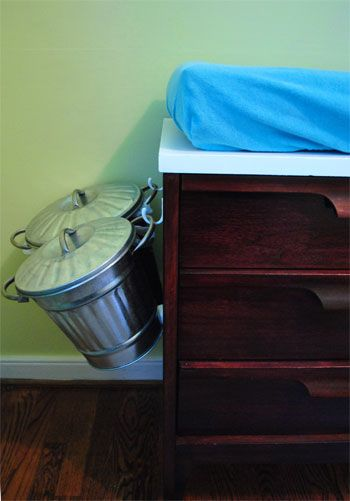 @Nick Bobbs LOVE LOVE LOVE this idea. It would be great to get all the pails off the floor in the nursery, might even be able to fit a small trash can too.