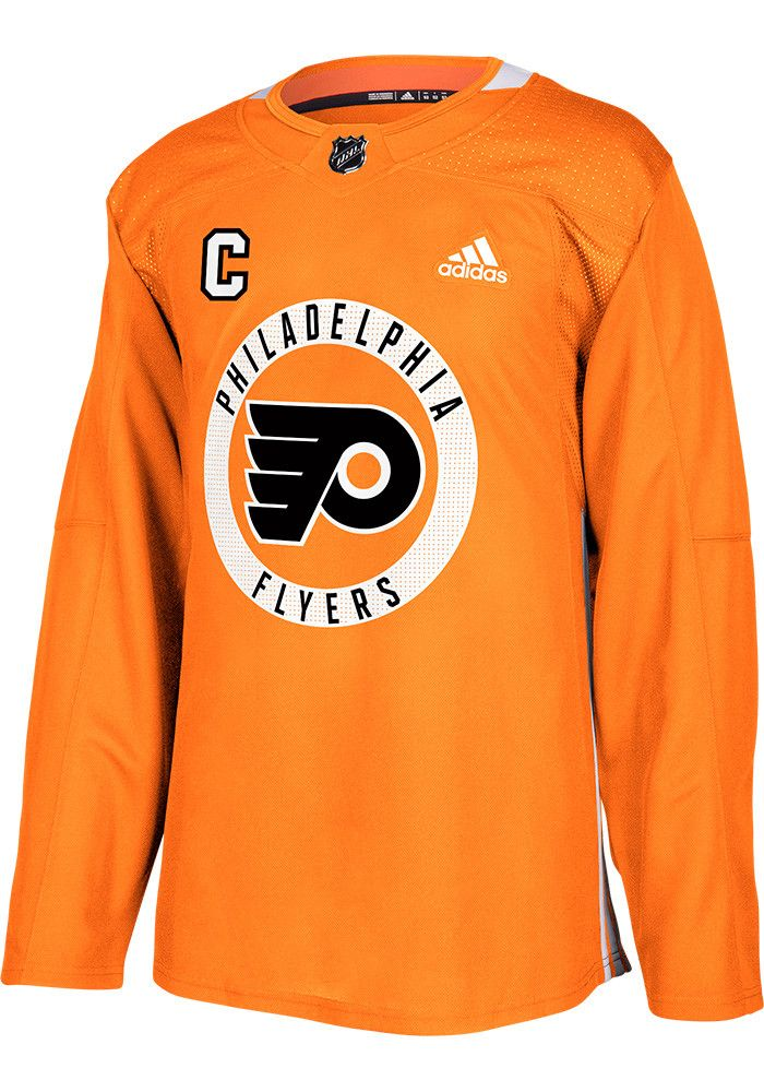 san francisco 816b5 31f83 Claude Giroux Philadelphia Flyers Mens Orange Practice ...