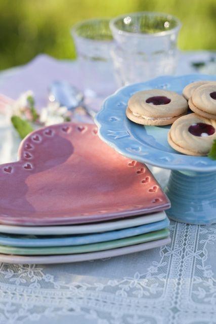 Mia Blanche Ceramics - Plate - Side plate Little heart