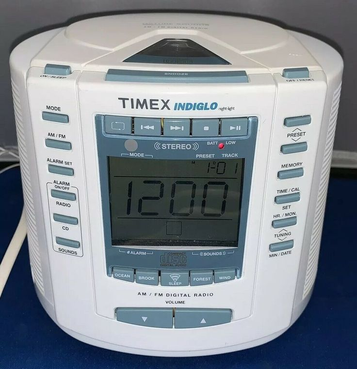 Timex T600a Indiglo Alarm Digital Clock Radio With Nature Sounds Excellent Cond Timex Digital Clock Radio Digital Radio Digital Clocks