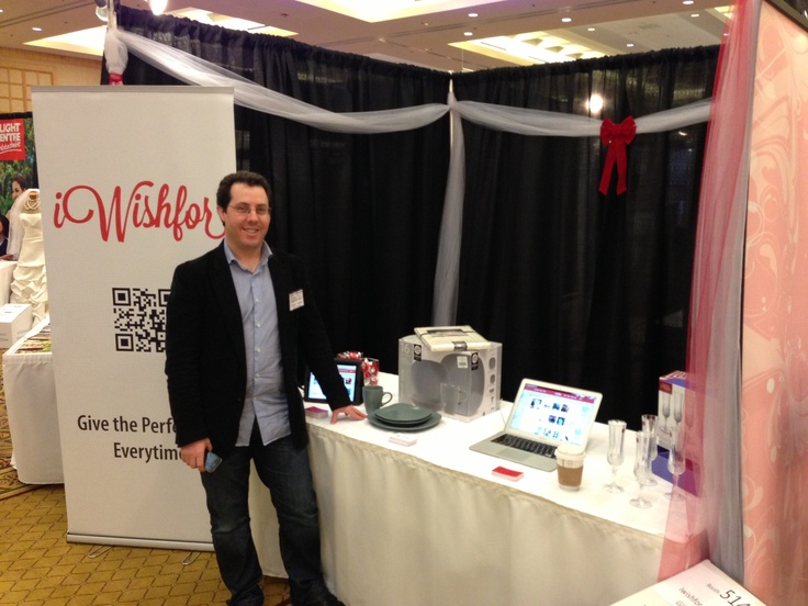 Founder, Ian Hancock, in front of the  iWishfor Display at the Wedding Fair!