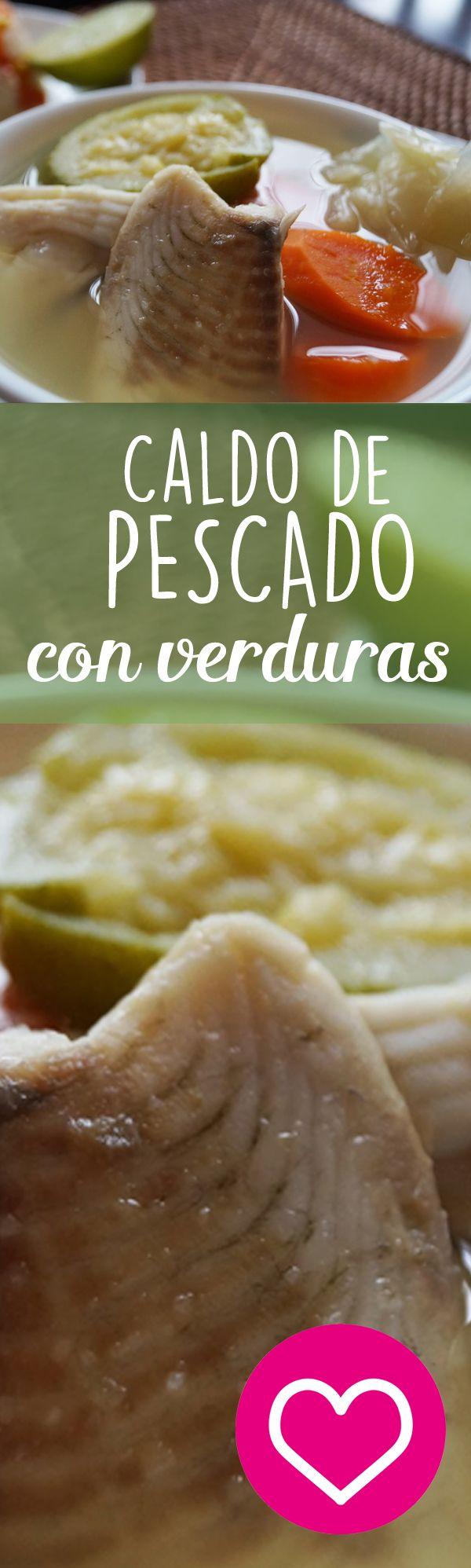 Caldo de pescado con verduras, una opción saludable y deliciosa para esta cuaresma