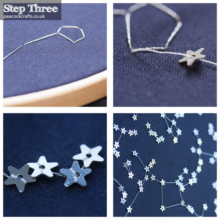 DIY: Embroider a star map for your baby of the alignment of the stars on the day, hour and minute of his/her birth. Very unique and personal.