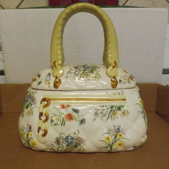 Beautiful Purse Shaped Cookie Jar By Davids 39 S By