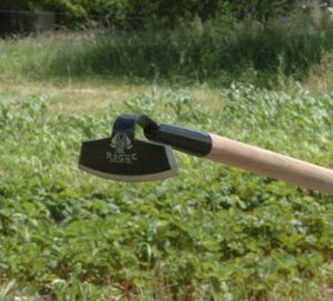 """Rogue Heavy Duty Hoe 70G by Rogue. $39.95. 1.25"""" x 54"""" handle. 7"""" wide head with 3 sharp edges. The Heavy Duty 70G is the original Rogue garden hoe. The head is 7"""" wide and sharp on three sides for working in tighter areas. The handle is 1-1/4"""" wide and 54"""" long."""