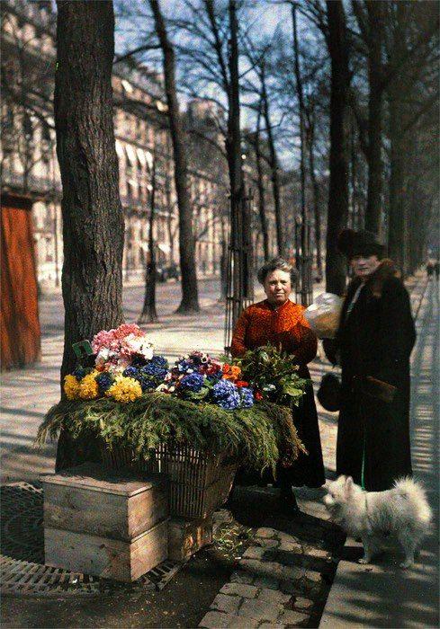 Avenue Hoche - 1919, autochrome photo