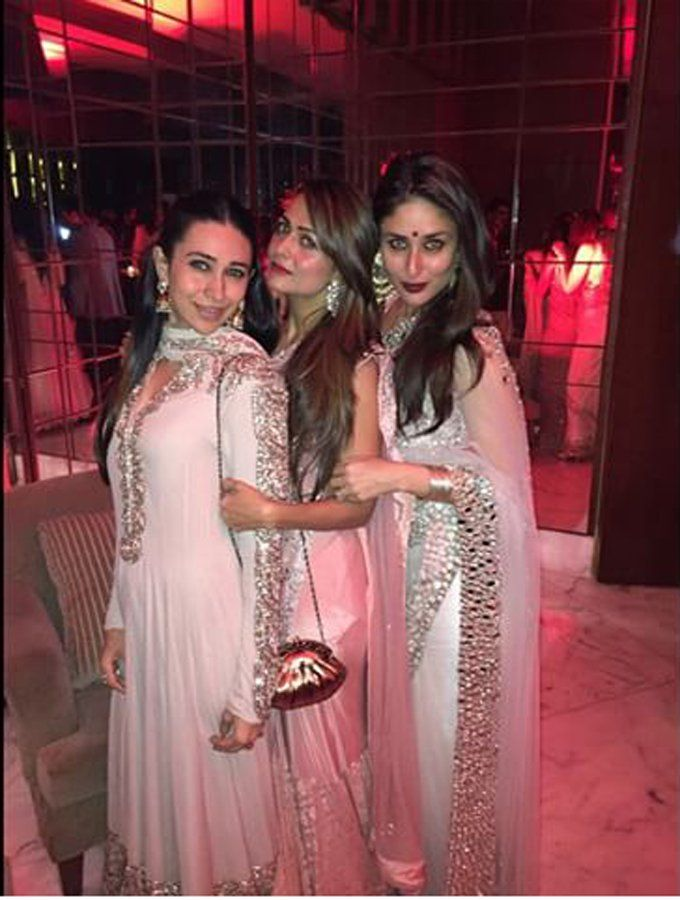 Kareena and Karisma Kapoor and Amrita Arora