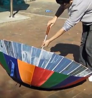 How To Turn An Umbrella Into A Solar Cooker.   http://www.thegoodsurvivalist.com/how-turn-to-an-umbrella-into-a-solar-cooker/  #thegoodsurvivalist
