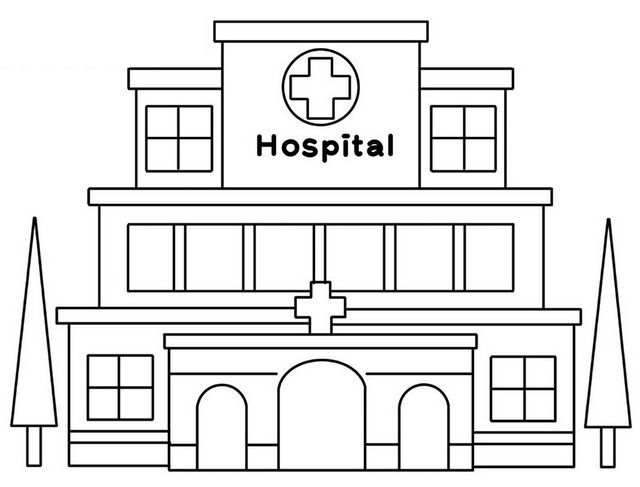 All New Modern And Large Hospital Coloring Pages For Kids Ilustrator