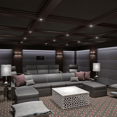 Media Room Design Ideas, Pictures, Remodel and Decor | For ...
