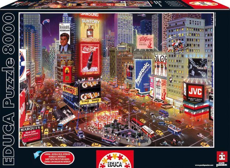 Вечер на Таймс Сквер. Пазл, 8000 элементов