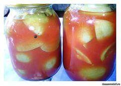 Зеленые помидоры с сахаром в томате (помидоры сладкие)================== 10 кг. помидоров 200 гр. листьев черной смородины 10 гр. душистого перца 5 гр. корицы 4 кг. зрелых помидоров для томата (или томатной пасты) 3 кг. сахара Соль – по вкусу (не менее 3 столовых ложек) Привожу необычный способ засолки помидоров: вместо соли нужно взять сахар. Возьмите зеленые (или бурые), помидоры, отсортируйте и выкладывайте в бочку, таким образом: смородиновый лист, душистый перец, корицу, на них сверху…