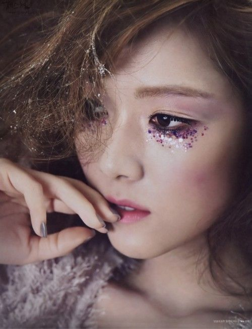 Image result for korean glitter makeup