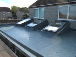 velux pitched roof lights on a flat roof