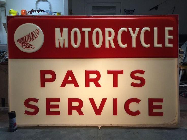 Vintage Honda Motorcycle Dealership Sign from 175.0