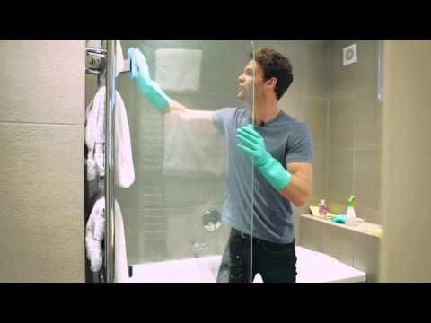 how to clean shower screen with vinegar and bicarb