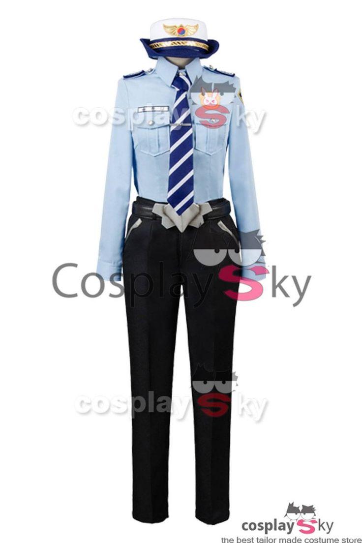 Overwatch D.VA DVA Hana Song Police Officer Uniform Cosplay Costume_4