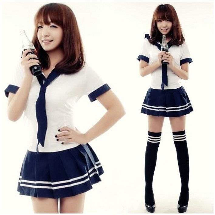 $22.50 - New Japanese School Girl Sailor Uniform Cosplay Costume #Unbranded