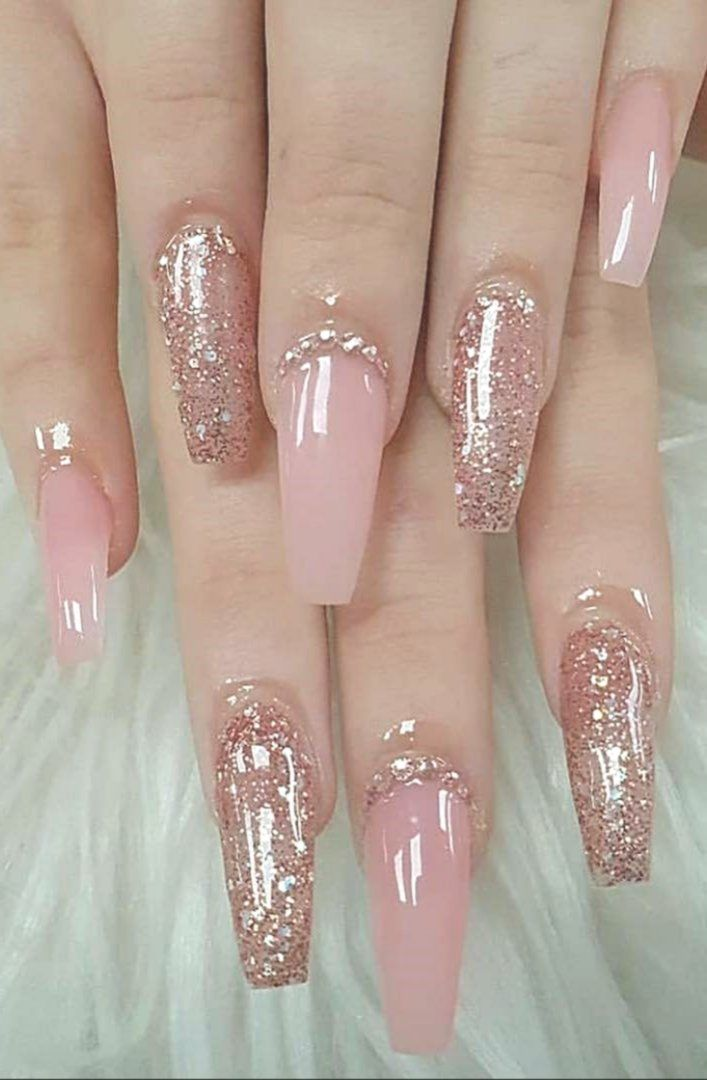 46 Best Nail Art Ideas For Your Hands Page 21 Art Hands Ideas Nail Page In 2020 Blush Pink Nails Blush Nails Pink Nails