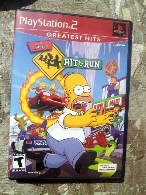 The Simpsons Hit and Run PS2 COMPLETE