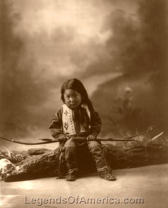 John Lone Bull, Sioux boy, 1900