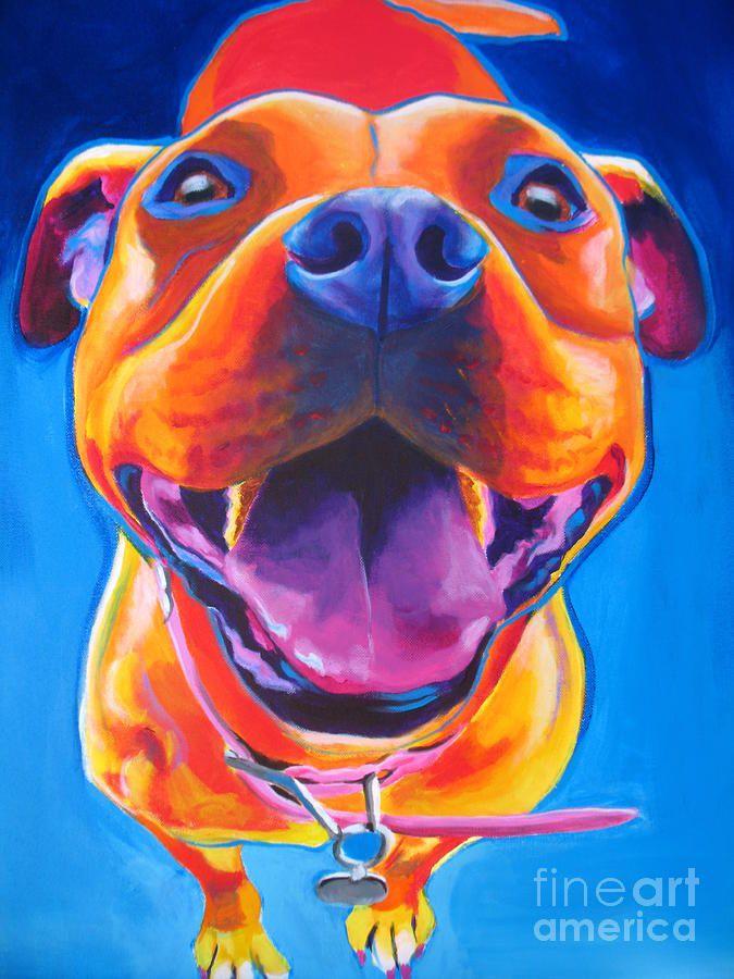 pitbull art | Pit Bull - Lots To Love Painting - Pit Bull - Lots To Love Fine Art ...
