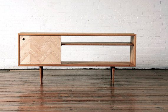 """This gorgeous console can hold my entertainment system any time."" - Jaime Derringer #DesignMilk"