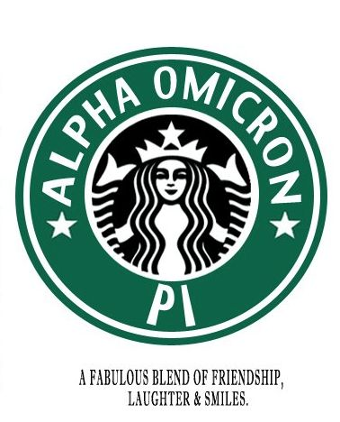 Two of my favorite things...  AOII & Starbucks Coffee...  :)