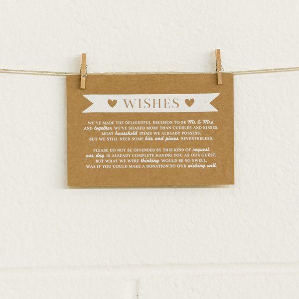 'Boy Meets Girl' White Foil on Kraft, Wishing Well Cards, 10pk