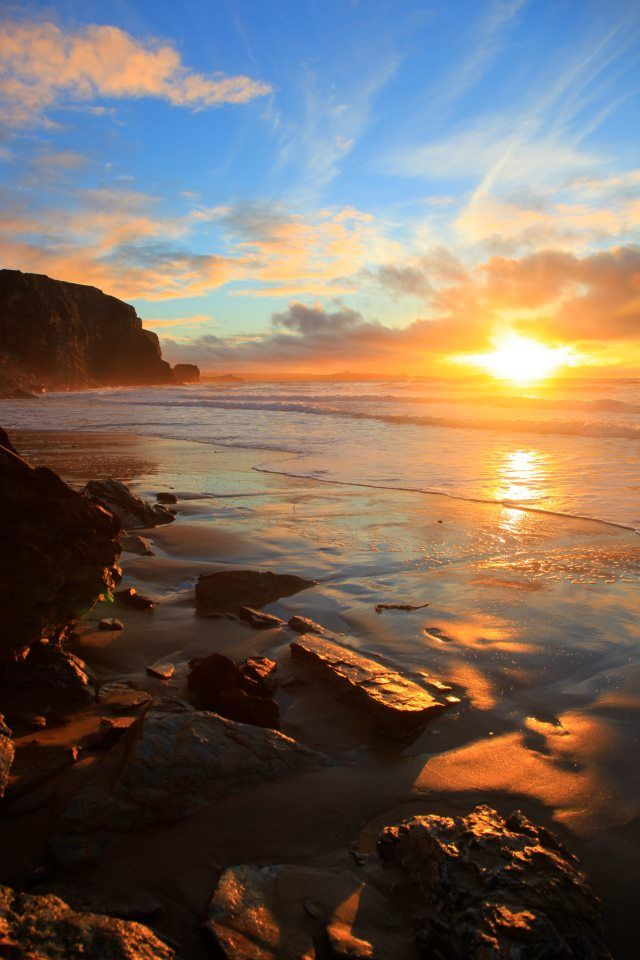 Sunset at Watergate Bay, Newquay
