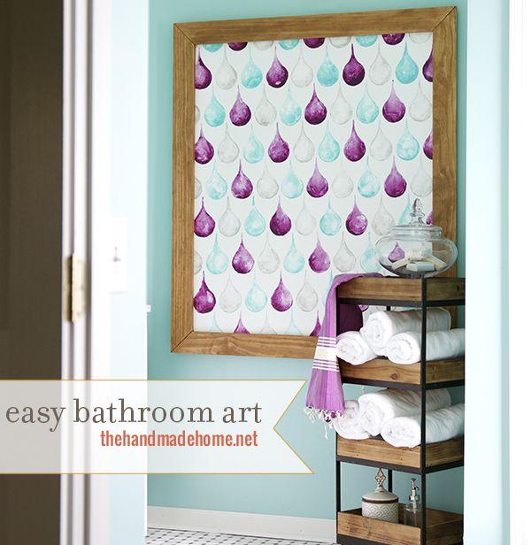 how to make easy bathroom art   the handmade home