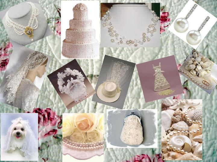Pearls And Lace Wedding Theme Board