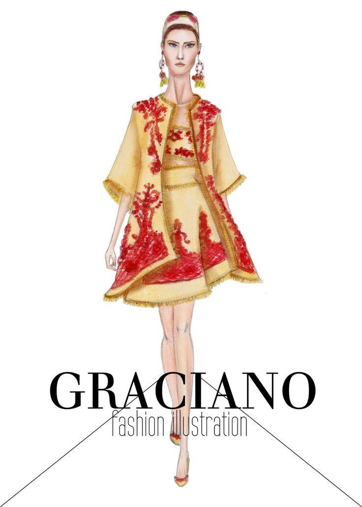 GRACIANO fashion illustration: Dolce & Gabbana S/S 2013 #MFW