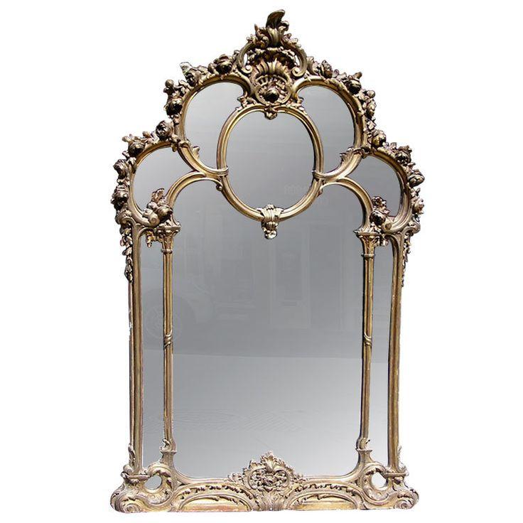 Captivating French Over Mantel Gilt Mirror Idea