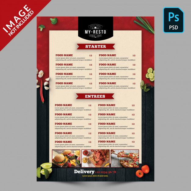Food Menu Template Menu Card Design Food Menu Food Menu Template