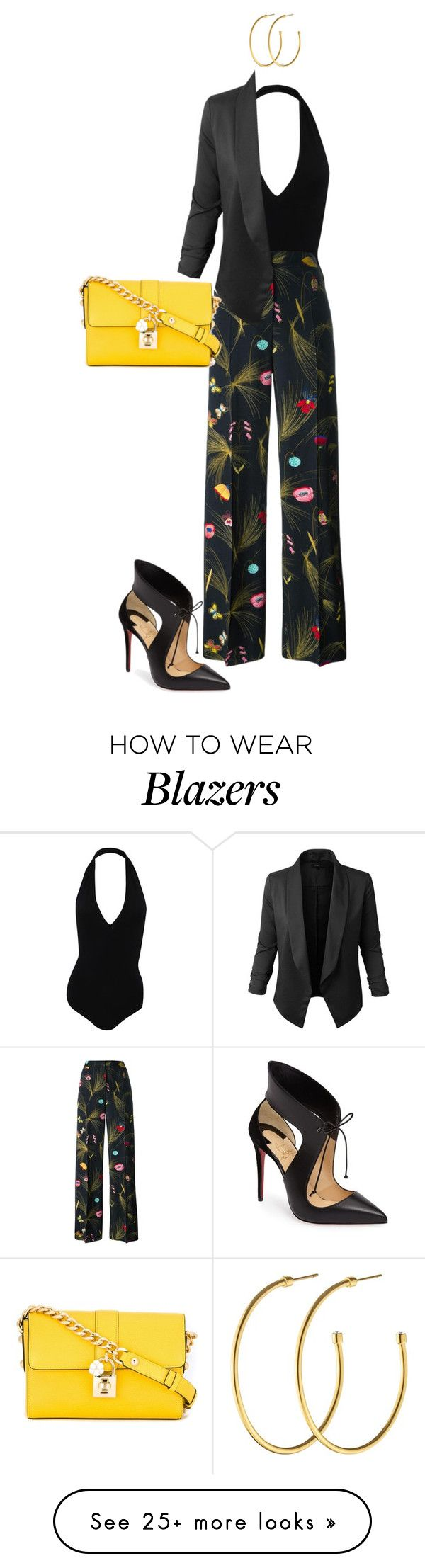 """""""M124"""" by maramrs on Polyvore featuring American Apparel, Christian Louboutin, Fendi, Jupe de Abby, Dyrberg/Kern and Dolce&Gabbana"""
