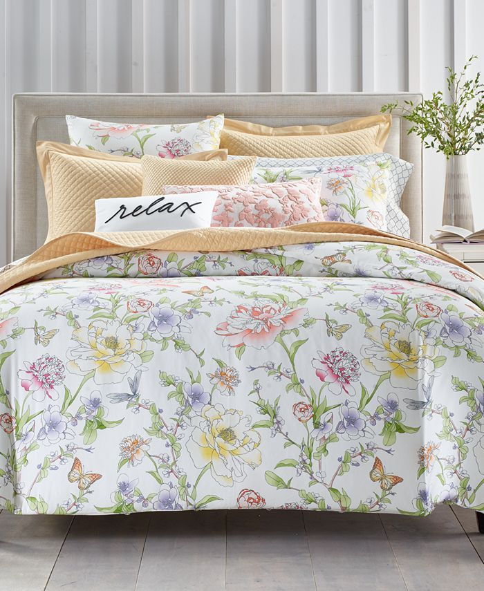 Charter Club Blossom Cotton 300 Thread Count 3 Pc Full Queen Duvet Cover Set Created For Macy S Reviews Duvet Covers Bed Bath Macy S Bedding Collections King Comforter Sets Duvet Cover Sets