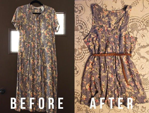 Get a dress with a pretty fabric and transform it