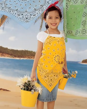 Bandanna sewing projects - cute apron