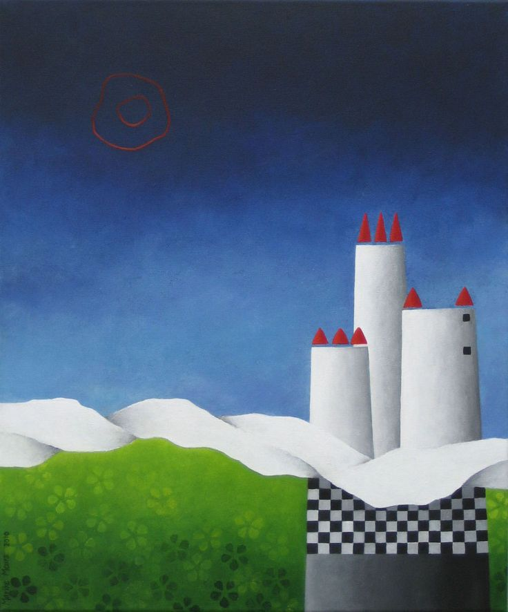 Three towers - acryl on canvas - 60x50 - Marike Meurs