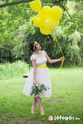 Eladó olcsó, minőségi menyasszonyi ruha 25000 Ft-ért
