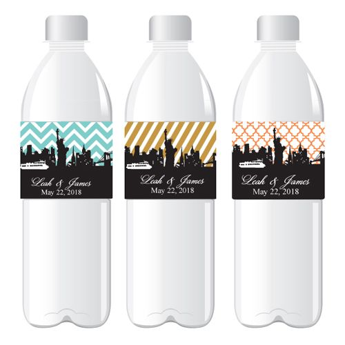 Mod New York Personalized Water Bottle Label